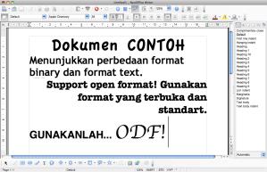 Dokumen yang ditulis menggunakan NeoOffice
